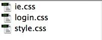 The CSS folder