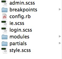 The Sass folder