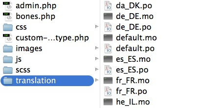 The translation folder includes PO and MO files