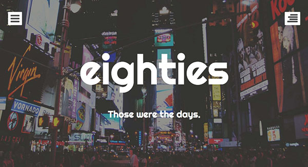 Eighties is a free porfolio themes for WordPress