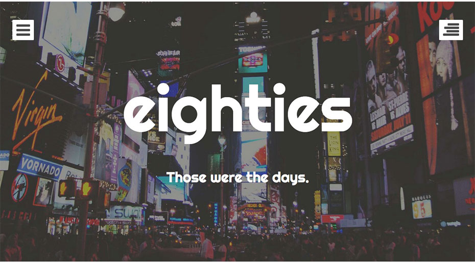 Eighties is a free theme for WordPress