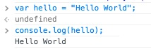Testing out console.log in the Inspector