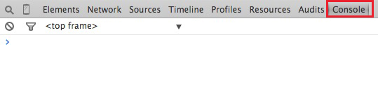 The console tab/section in the Chrome Inspector