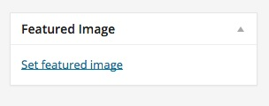Add a featured image