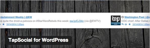 Tapsocial for WordPress plugin thumbnail