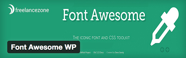 The Font Awesome WP plugin