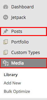 You can edit the images in the media library or your blog edit page