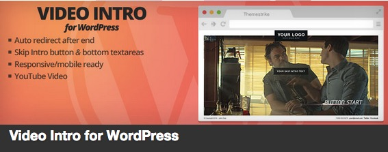 the video intro for wordpress plugin banner