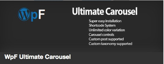 WpF Ultimate Carousel plugin thumbnail