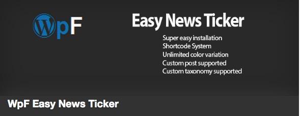 The Easy News Ticker plugin thumbnail
