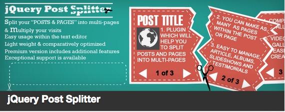 jQuery Post Splitter plugin thumbnail