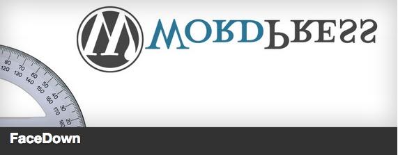 Facedown plugin for WordPress