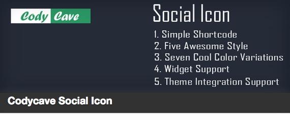 Codycave Social Icon plugin thumbnail