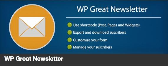 WP Great Newsletter plugin thumbnail