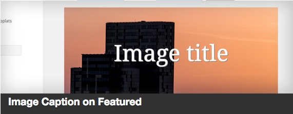 Image Caption on Featured plugin thumbnail