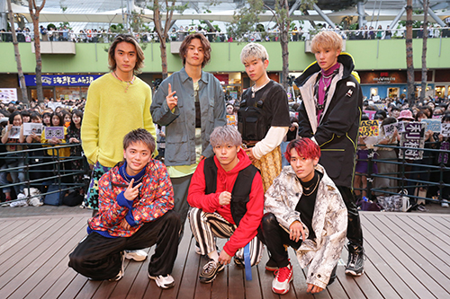 BALLISTIK BOYZ from EXILE TRIBE、リリース記念イベントで新曲初披露!黒木啓司(EXILE/EXILE THE SECOND)がサプライズで登場し激励!!