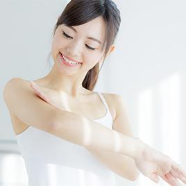 腕の医療レーザー脱毛が完了する回数