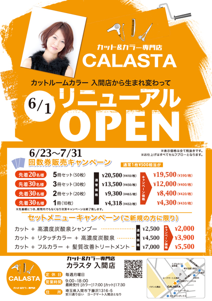 カット&カラー専門店カラスタ入間店の店舗画像2