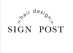 hair design SIGN POST