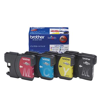 BROTHER ブラザー LC11-4PK インク4色パック ×2
