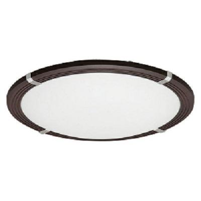 LEDシーリングライト 8畳調色木枠 3800lm (ダークブラウン)