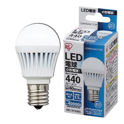 アイリスオーヤマLED電球 LDA5N-H-E17-V9