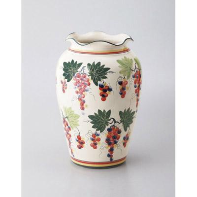 ぶどう柄陶器傘立