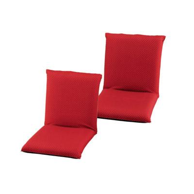 低反発和風座椅子2個セット レッド