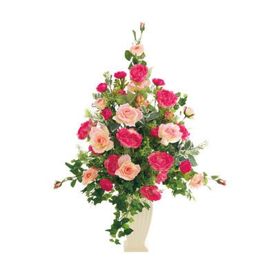 プチポワ 光触媒 ガーベラ&ローズ(造花) ピンク