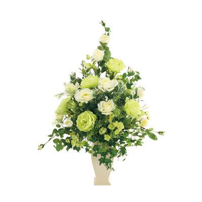 プチポワ 光触媒 ガーベラ&ローズ(造花) ホワイト