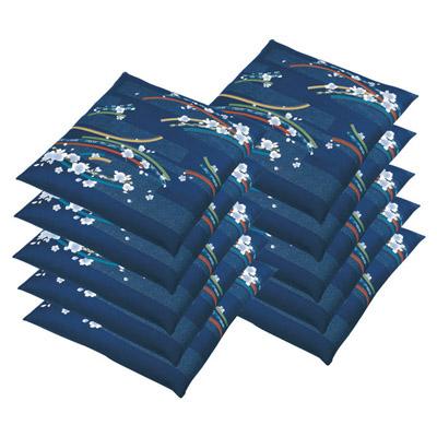 座布団カバー10枚セット ブルー