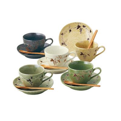 片岡鶴太郎 スプーン付コーヒーカップセット
