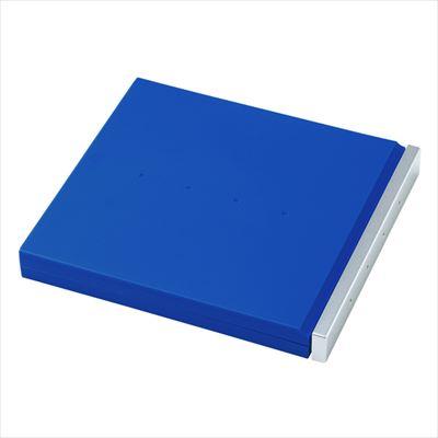 ブルーレイディスク対応ポータブルハードケース(8枚収納・ブルー)