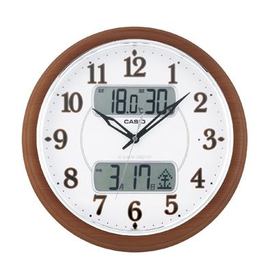 カシオ 温湿度計付電波掛時計