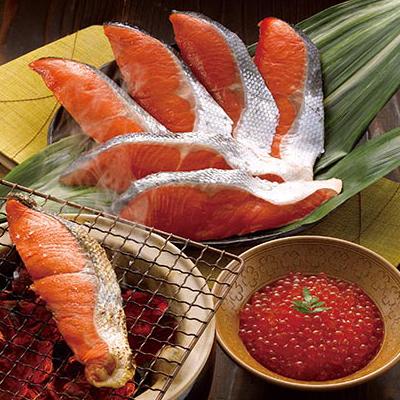 紅鮭のヒマラヤ岩塩漬けといくら醤油漬け