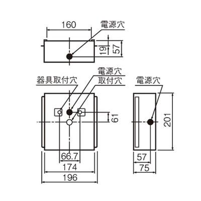 岩崎電気 誘導灯埋込ボックス