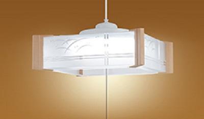 NEC LEDペンダントライト LIFELED'S 調光タイプ 和風 透明樹脂セード 白木調樹脂飾り ~6畳 HCDA0609