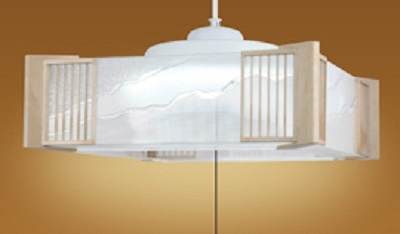 NEC LEDペンダントライト LIFELED'S 調光タイプ 和風 透明ダイヤカット 樹脂セード 白木調樹脂飾り ~8畳 HCDB0812