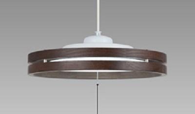 NEC LEDペンダントライト LIFELED'S 調光タイプ 洋風 オーク調木製枠(2段) ~8畳 HCDB0814