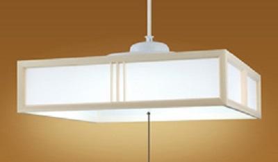 NEC LEDペンダントライト LIFELED'S  調光タイプ 和風 木製白木枠 特殊加工和紙貼 ~8畳 HCDB0813