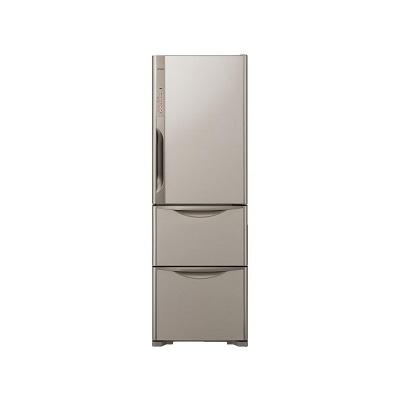 日立 冷蔵庫 365L ライトブラウン 右開き  R-K370FV-T