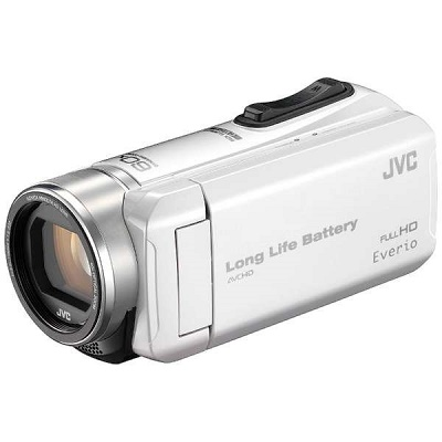 JVC ハイビジョンメモリームービー ビデオカメラ GZ-F200-W
