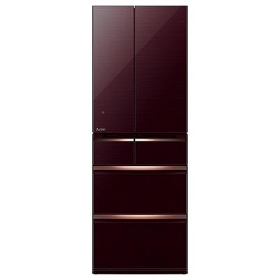 三菱電機 6ドア冷蔵庫 「置けるスマート大容量 WXシリーズ」 (475L・フレンチドア) クリスタルブラウン MR-WX48Z-BR