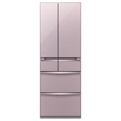 三菱電機 6ドア冷蔵庫 「置けるスマート大容量 WXシリーズ」 (475L・フレンチドア) クリスタルロゼ MR-WX48Z-P