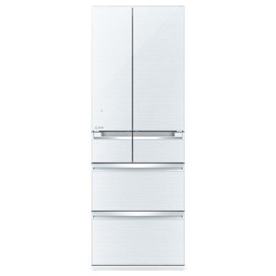 三菱電機 6ドア冷蔵庫 「置けるスマート大容量 WXシリーズ」 (475L・フレンチドア) クリスタルホワイト MR-WX48Z-W
