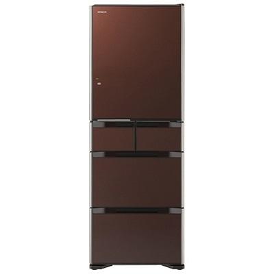 日立 5ドア冷蔵庫 「真空チルド Sシリーズ」(470L・右開き) クリスタルブラウン R-S4700F-XT