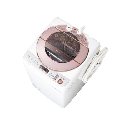 シャープ 縦型洗濯機 ES-GV80R-P(設置有り)