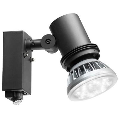 LEDioc 屋外スポットライト センサ付 ESP18003/BK