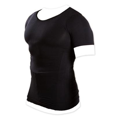 メンズ加圧シャツ ブラック Lサイズ