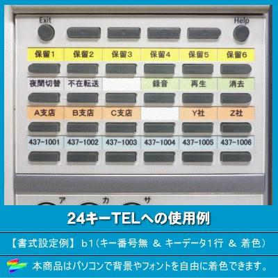 NTT電話機 示名状24TEL